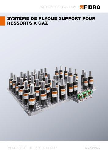 SYSTÈME DE PLAQUE SUPPORT POUR RESSORTS À GAZ