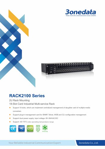 3onedata | RACK2100 | 18 slots Industrial Multi-Service Chassis Platform