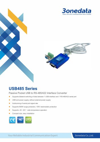 3onedata | USB485 | 1-port USB to RS-485 Converter