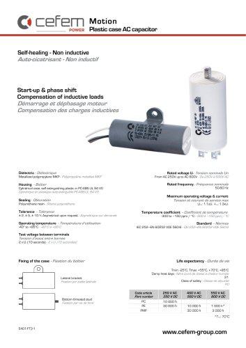Plastic case AC capacitor