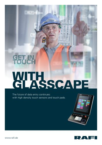 GLASSCAPE - with high density touch sensors and touch pads