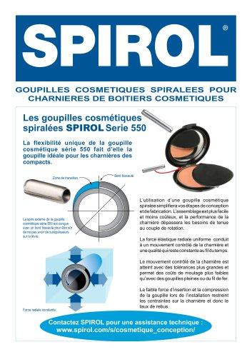 Goupilles spiralees dans les produits cosmetiques 550 series