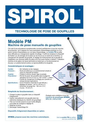 Modèle PM - Machine de pose manuelle de goupilles