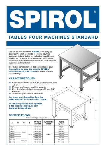 Tables pour machines standard