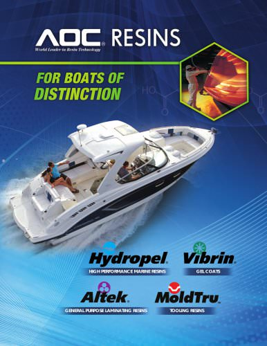 AOC Resins for Boats of Distinction