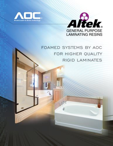 Foamed Systems by AOC for Higher Quality Rigid Laminates
