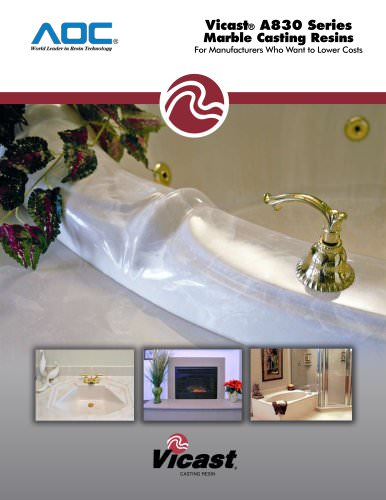 Vicast® A830 Series Marble Casting Resins
