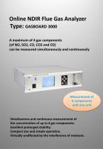 Online Flue Gas Analyzer Gasboard 3000