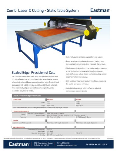 Combi Laser & Cutting - Static Table System