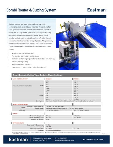 Combi Router & Cutting System