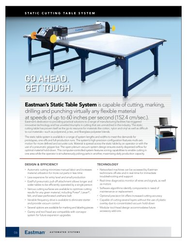 StatiC Cutting Table system