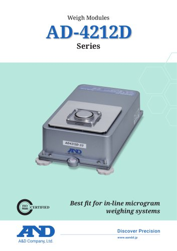 AD-4212D Series of Micro Analytical Weighing Sensors