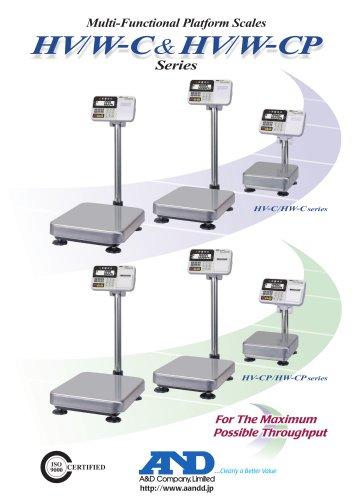 HV/W-C & HV/W-CP Series of Multi-Functional Platform Scales