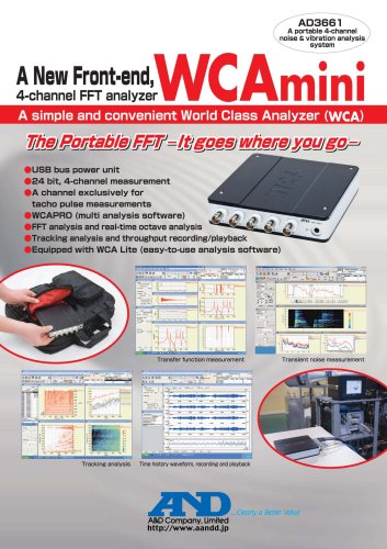 Portable 4-channel Noise & Vibration Analysis System/AD-3661