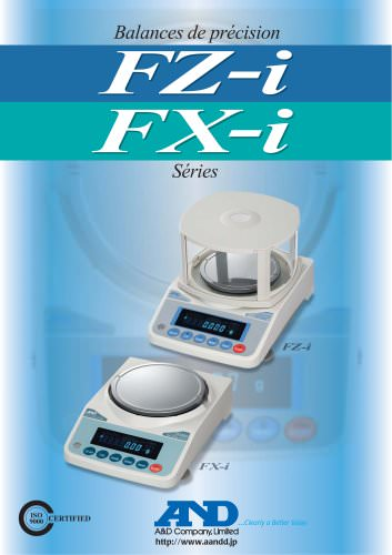 Precision Balances/FZ-i & FX-i Series