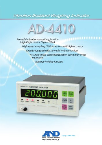 Vibration-Resistant Weighing Indicator