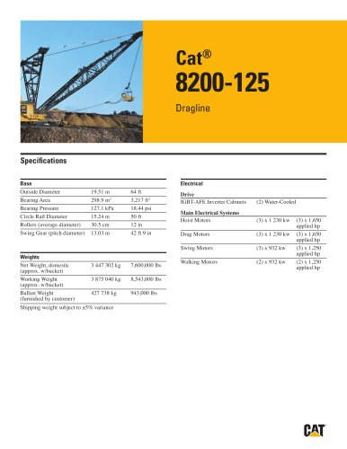Cat® 8200-125 Dragline