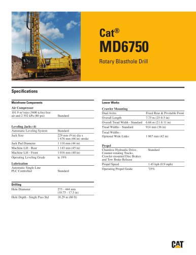 Cat® Rotary drills MD6750