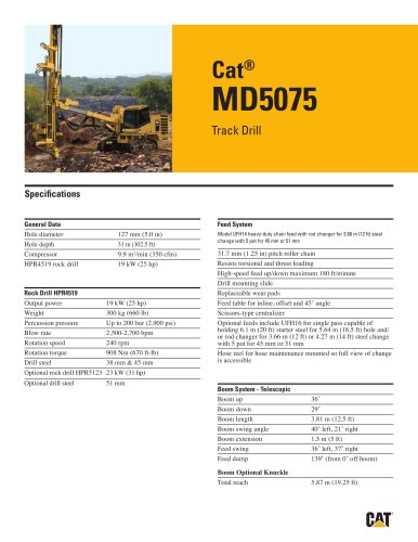 Cat® track drills MD5075
