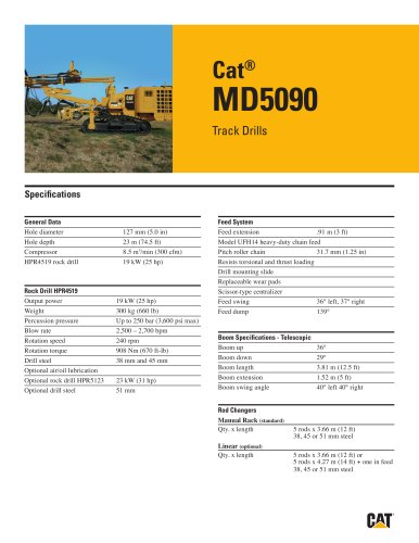 Cat® track drills MD5090
