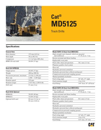 Cat® track drills MD5125
