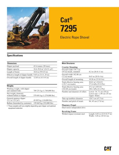 Electric Rope Shovels 7295