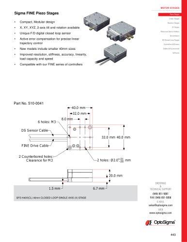 Sigma Fine Piezo Stages / Piezo Rotation / 510-0015