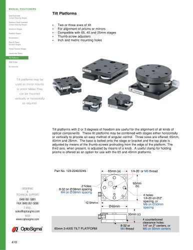 Tilt Platforms / Tilt Stage 2 Axis / 123-2200