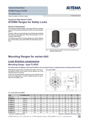 S30 Dimensions, Mounting Flanges