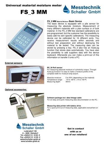 FS_3MM Universal material moisture meter