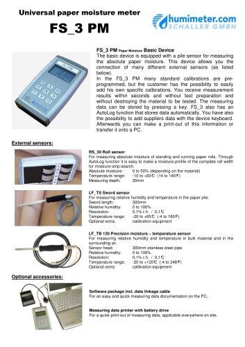 FS_3PM Universal paper moisture meter