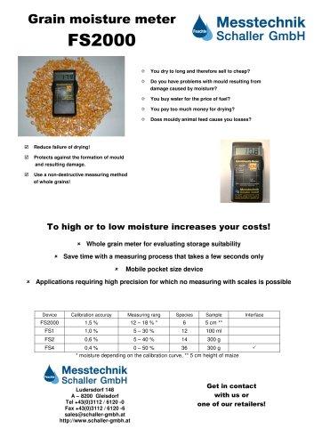 FS2000 Grain moisture meter
