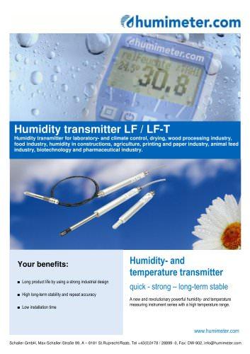Humidity transmitter LF/LF-T