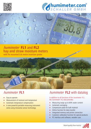humimeter FL1 hay and straw moisture meter