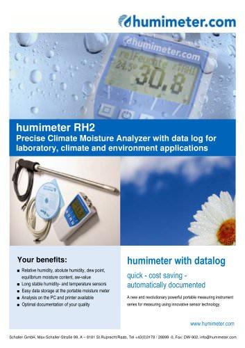 humimeter RH2 Climate Precision Moisture Analyzer w. Datalog