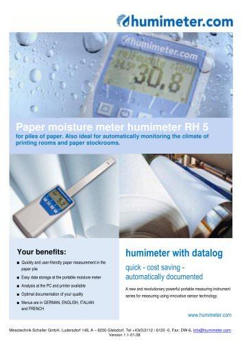 humimeter RH5 Paper moisture meter