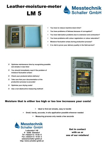 LM5 Leather-moisture-meter