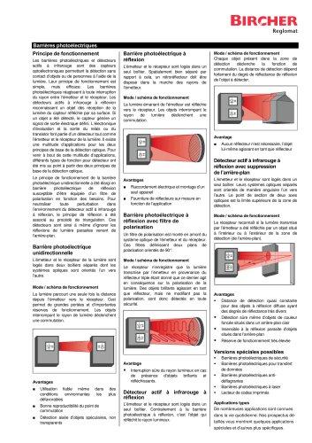 Barrières photoélectriques