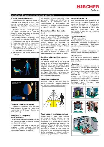 Détecteurs passif à infrarouge