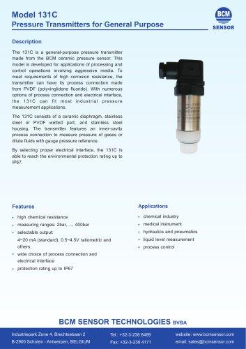 131C Inner Cavity Pressure Transmitters For General Purpose