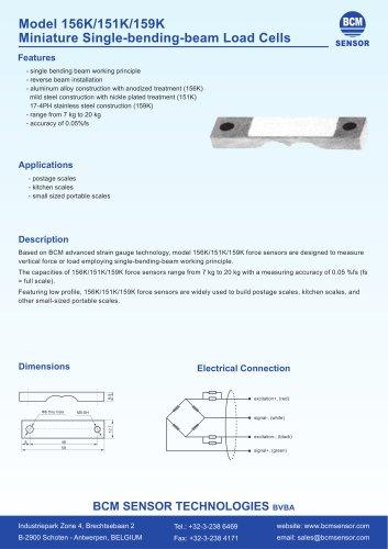 156K/159K Miniature Single Bending Beam Force Transducers