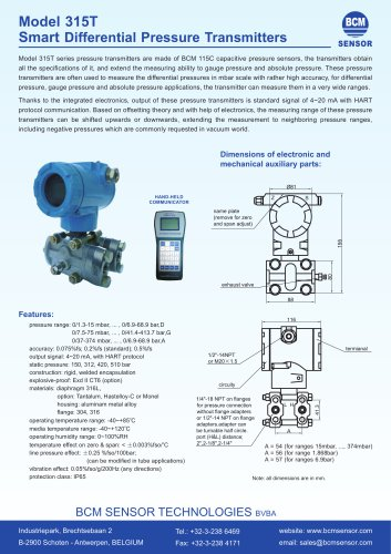 315T Smart Differential Pressure Transmitters
