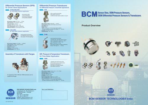 BCM Sensor Dies, OEM Pressure Sensors, OEM Differential Pressure Sensors & Transducers