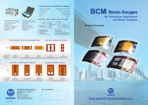 BCM Strain Gauges for Transducer Application and Stress Analysis