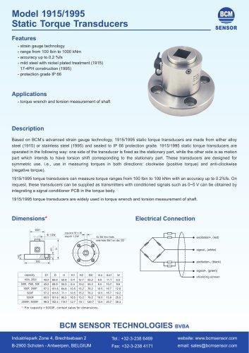 Model 1915/1995 Static Torque Transducers