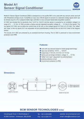 Model  A1  Sensor  Signal Conditioner