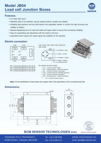 Model JB04 load cell junction Boxes