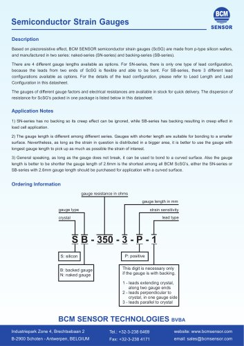 Semiconductor  Strain  Gauges