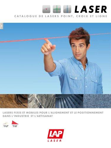 Catalogue de lasers point, croix et ligne