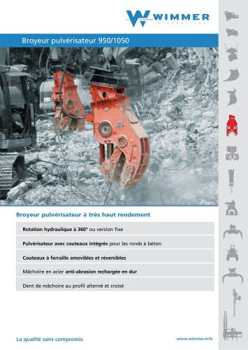 Broyeur pulvérisateur 950/1050